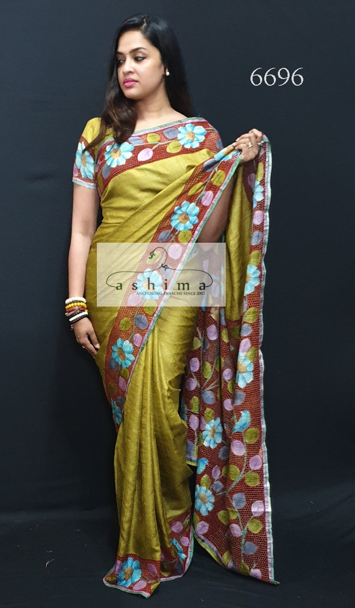 Tussar Silk saree 6696