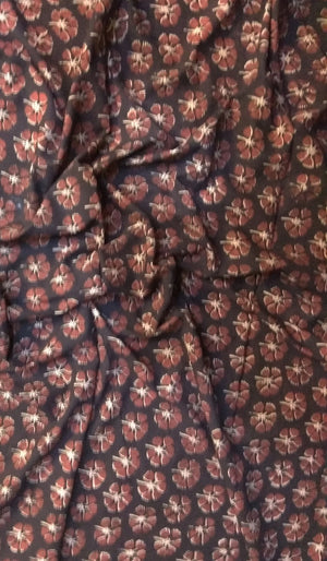 Maroon Printed Cotton Fabric FBK81