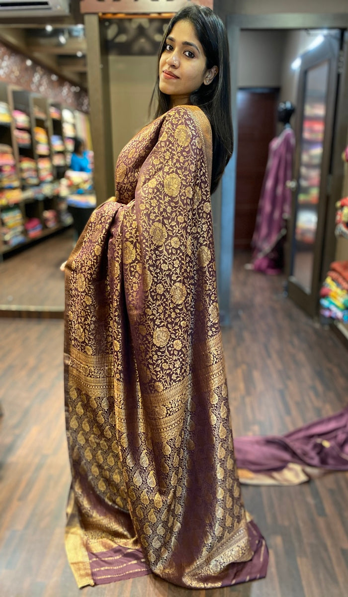 Crepe silk saree 13187