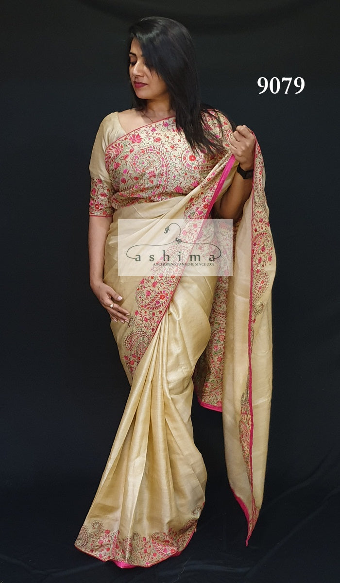9079 Tussar Silk Saree