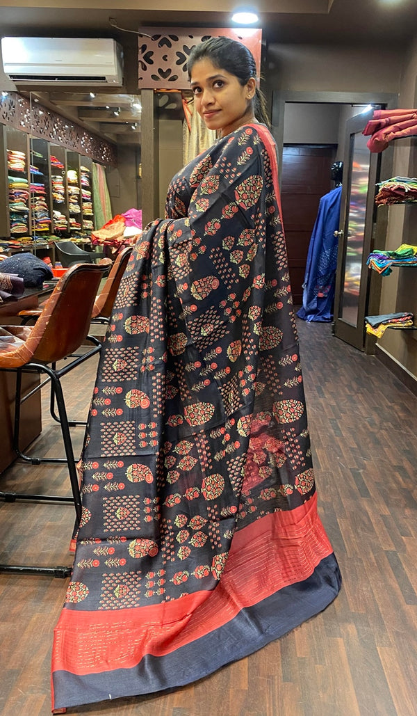 Moonga tussar silk saree 13116