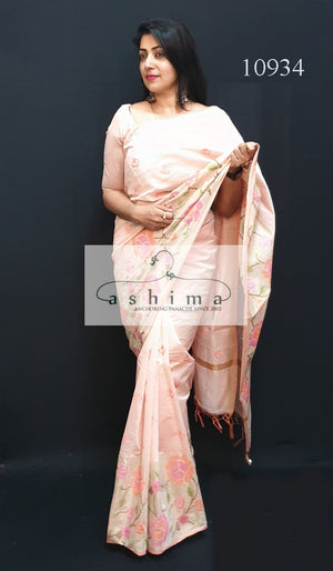 Semi silk saree 10936