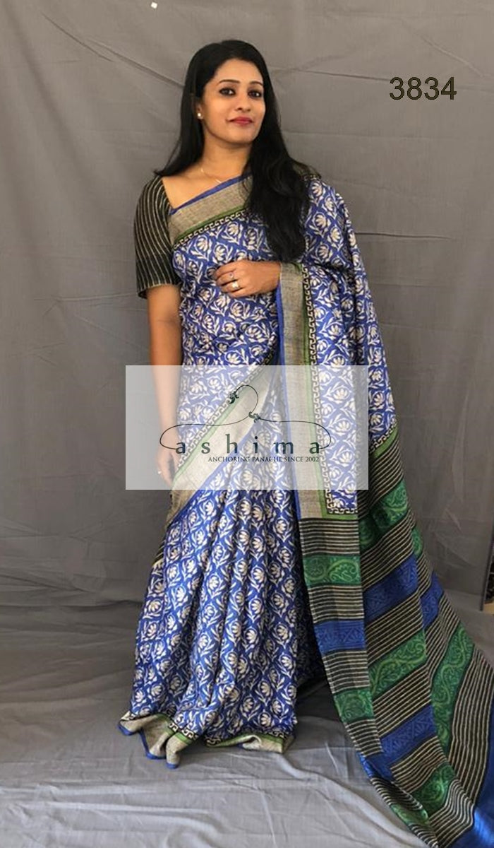 Tussar silk saree 3834