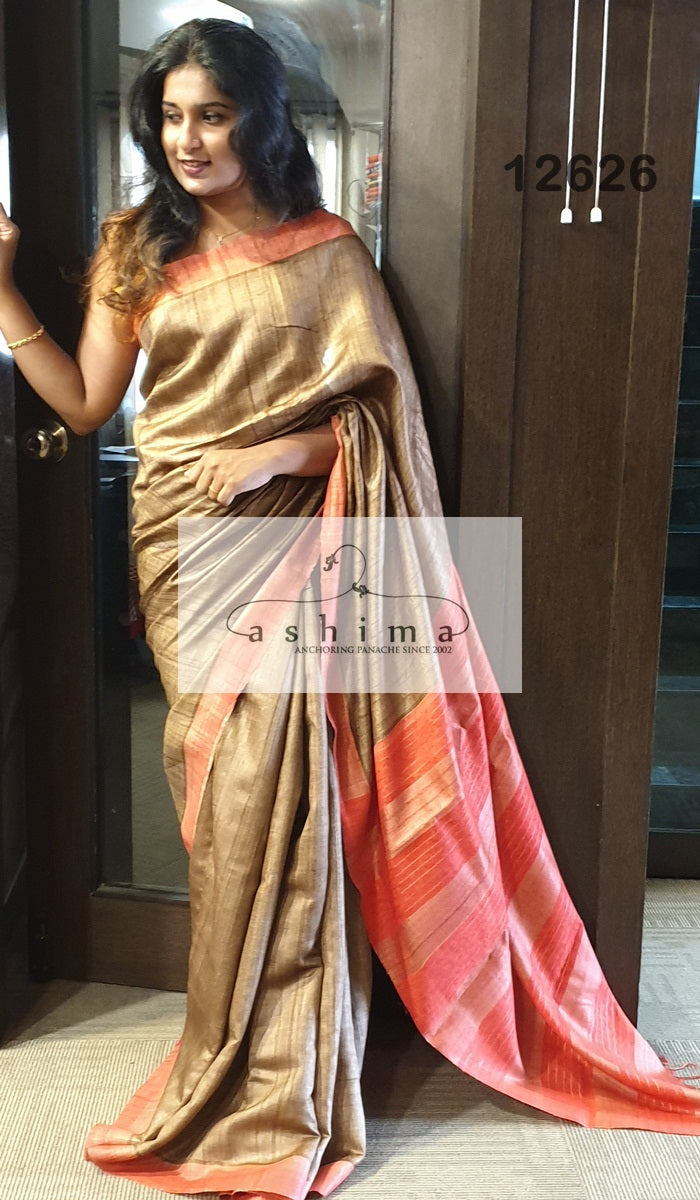 Tussar Silk Saree 12626
