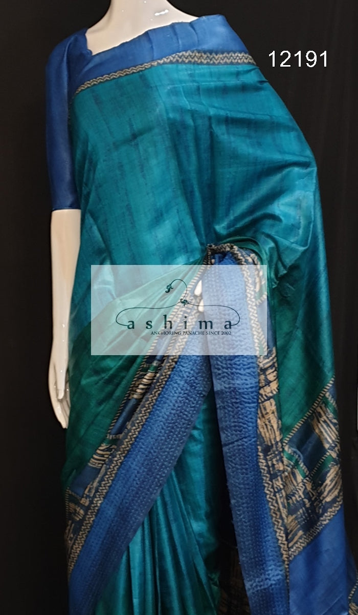 Tussar silk saree 12191