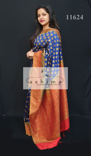 Semi banarasi saree 11624