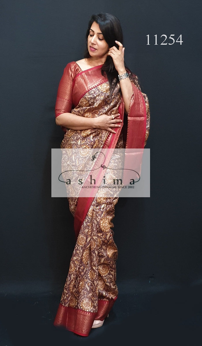 Banarasi chanderi saree 11245