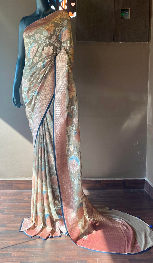 Georgette banarasi saree 13094