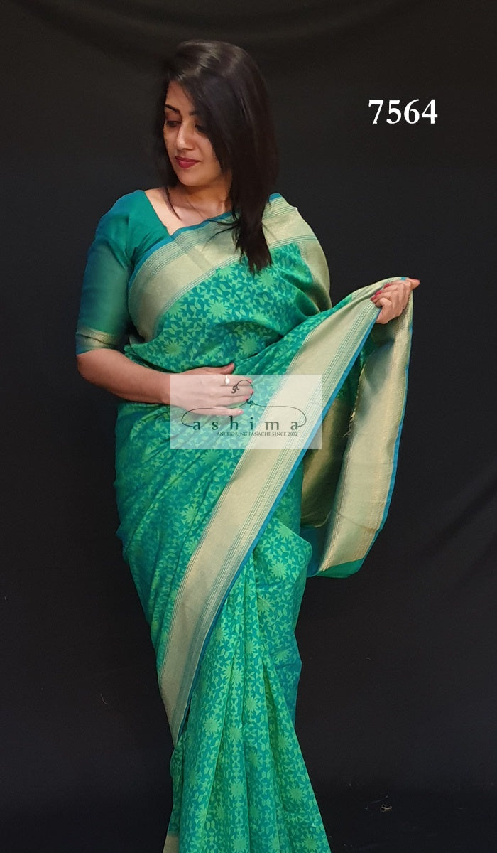 Semi Banarasi Saree 7564