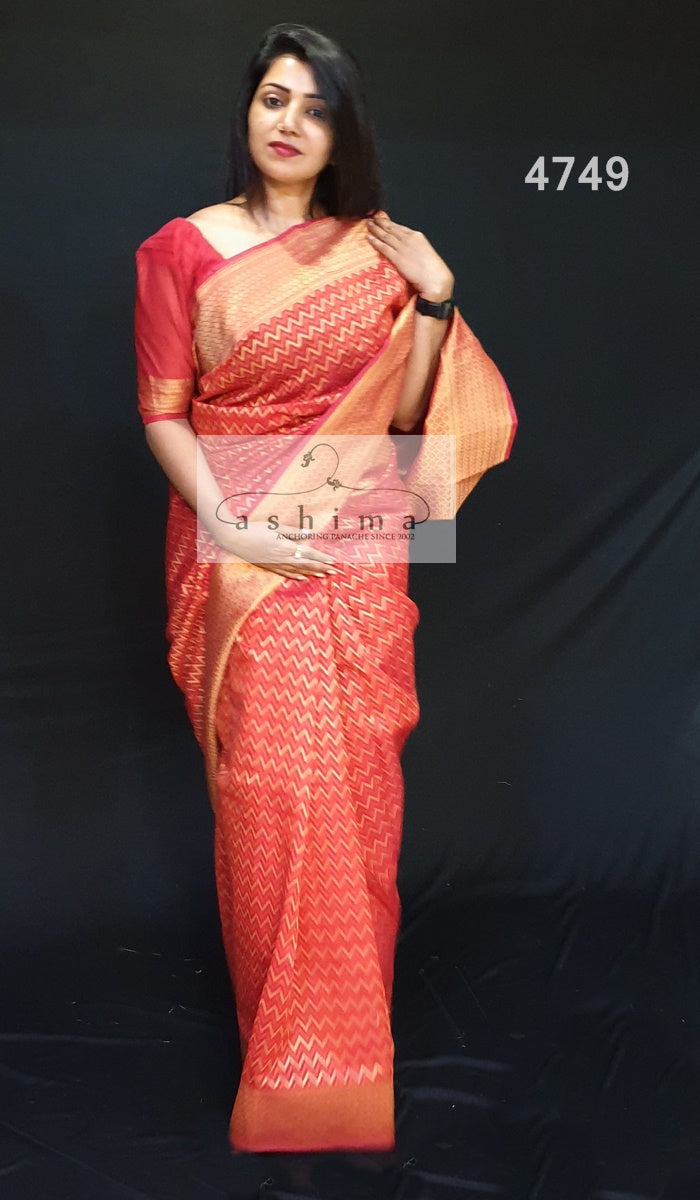 Semi Banarasi Saree 4749