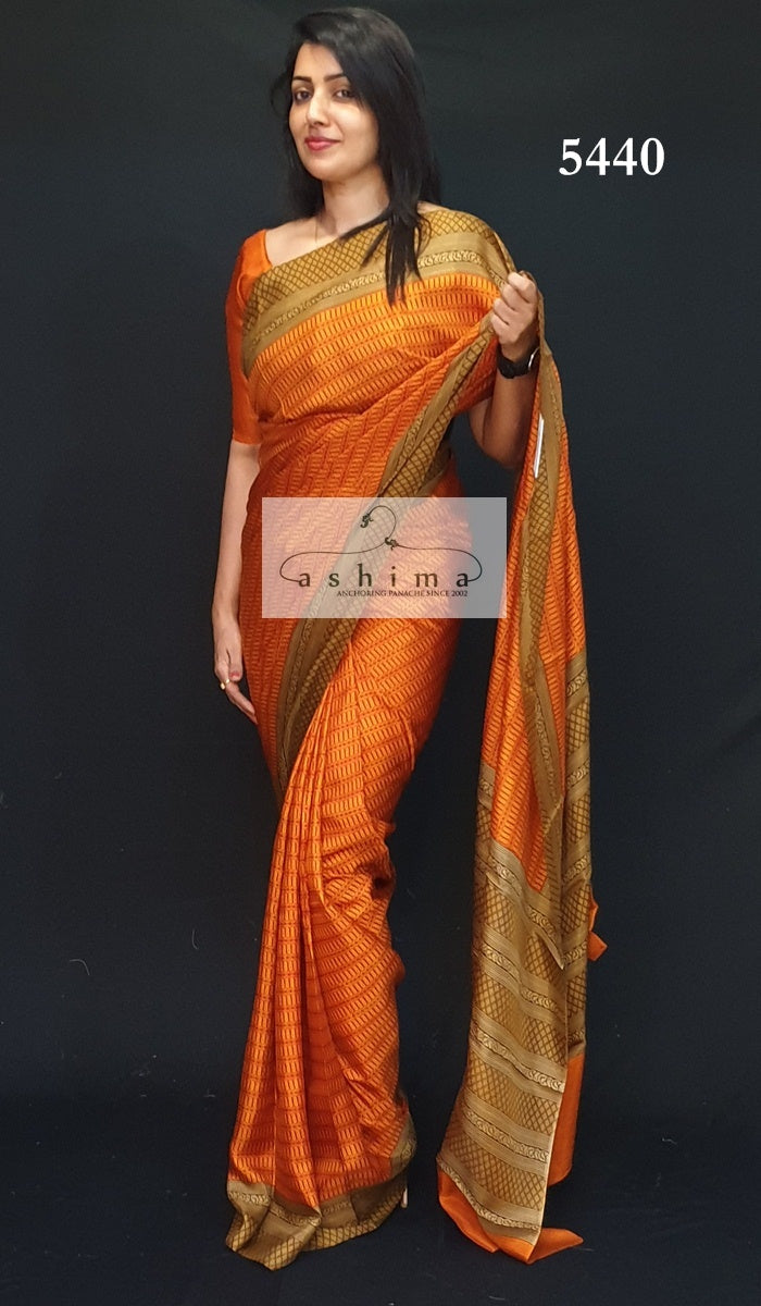 Printed Silk Saree 5440