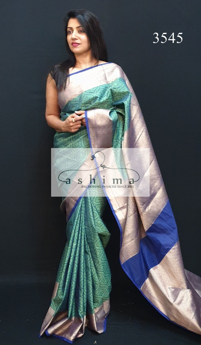 Semi Banarasi Silk Saree 3545