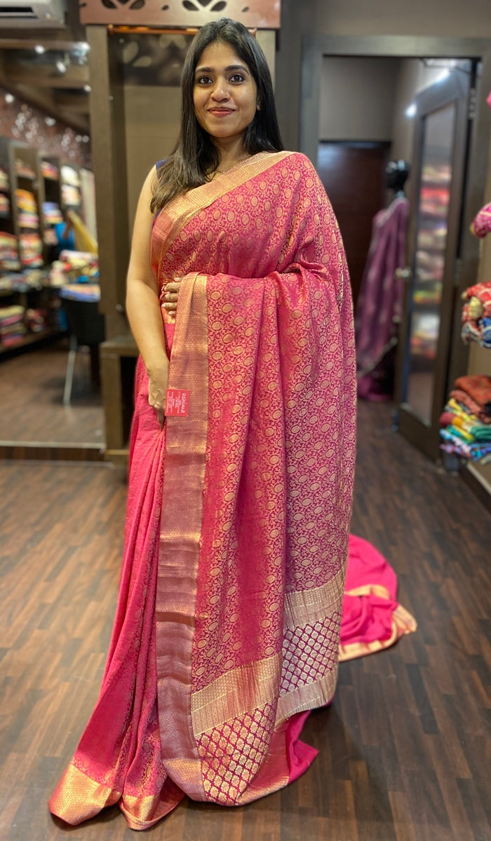 Crepe silk saree 13191