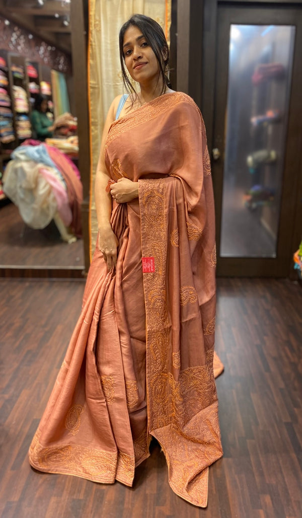 Semi silk saree 13687