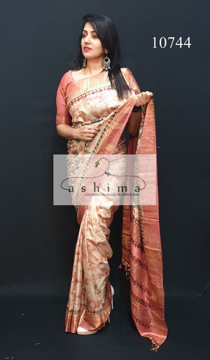 Tussar silk saree 10744