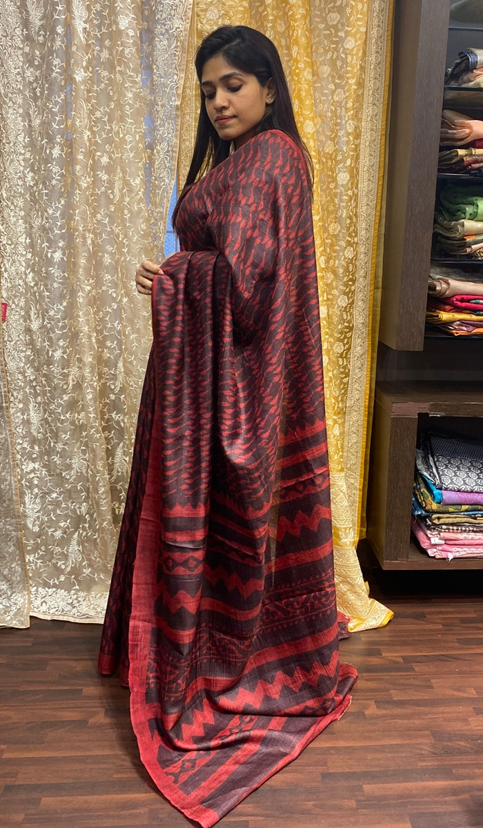 Tussar silk saree 3010