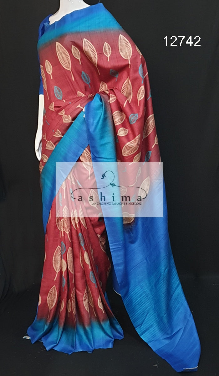 Tussar silk saree 12742