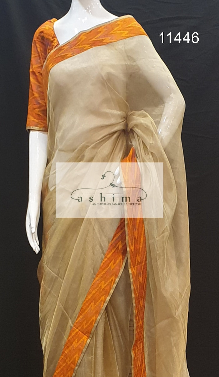 Tissue silk saree 11446