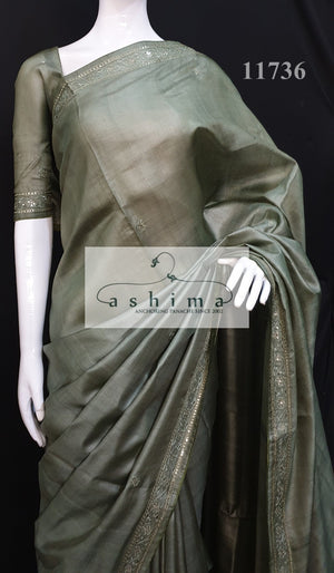 Tussar silk saree 11736