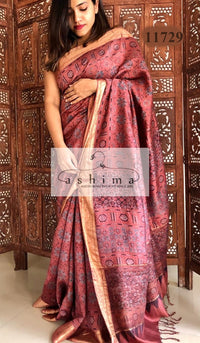 Tussar silk saree 11729