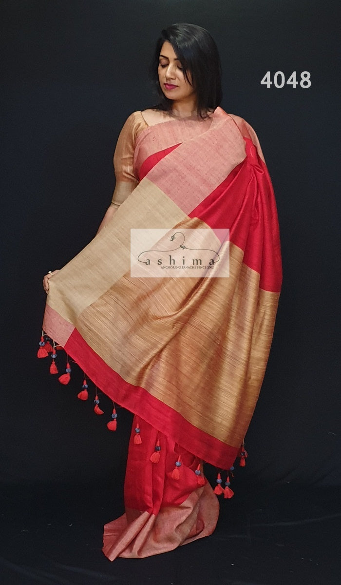 Linen Silk Saree 4048
