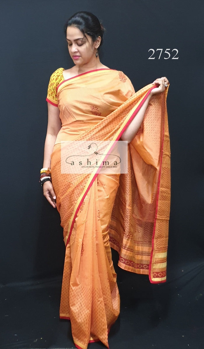 Printed Chanderi Saree 2752