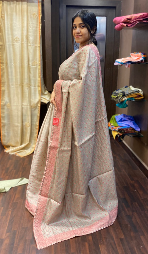 Semi silk saree  13694