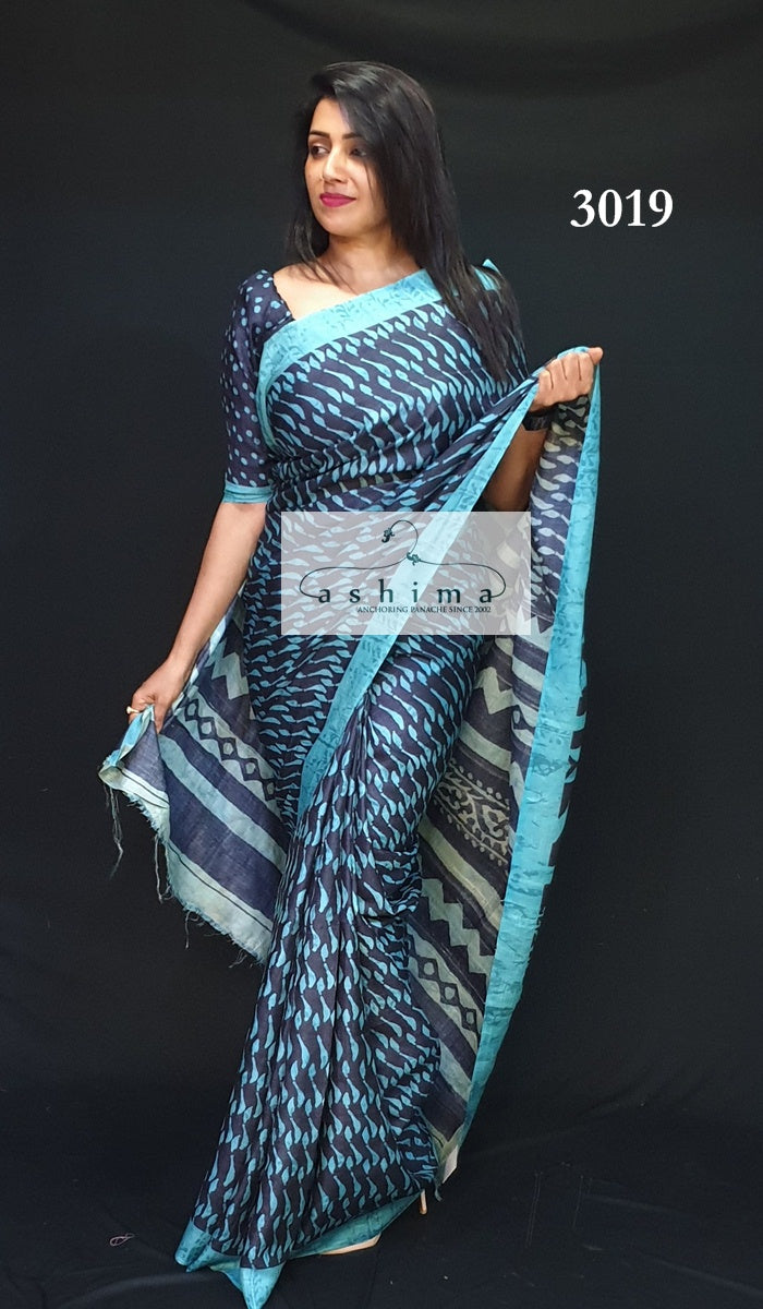 Tussar Silk Saree 3019