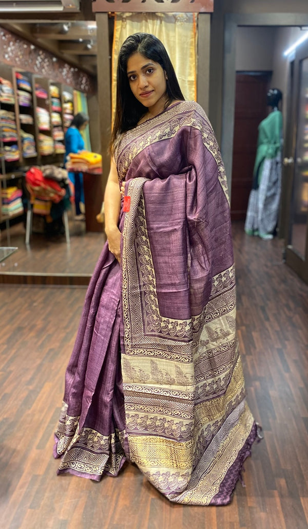 Tussar silk saree  13779
