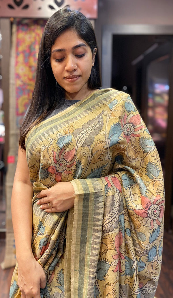Tussar silk saree  13919