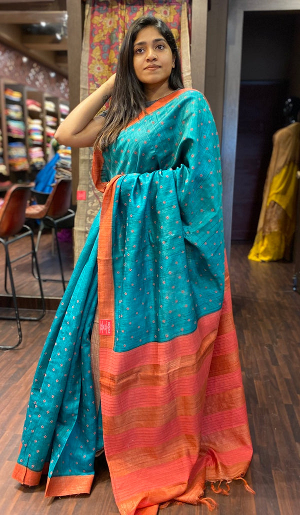 Tussar silk saree 13921