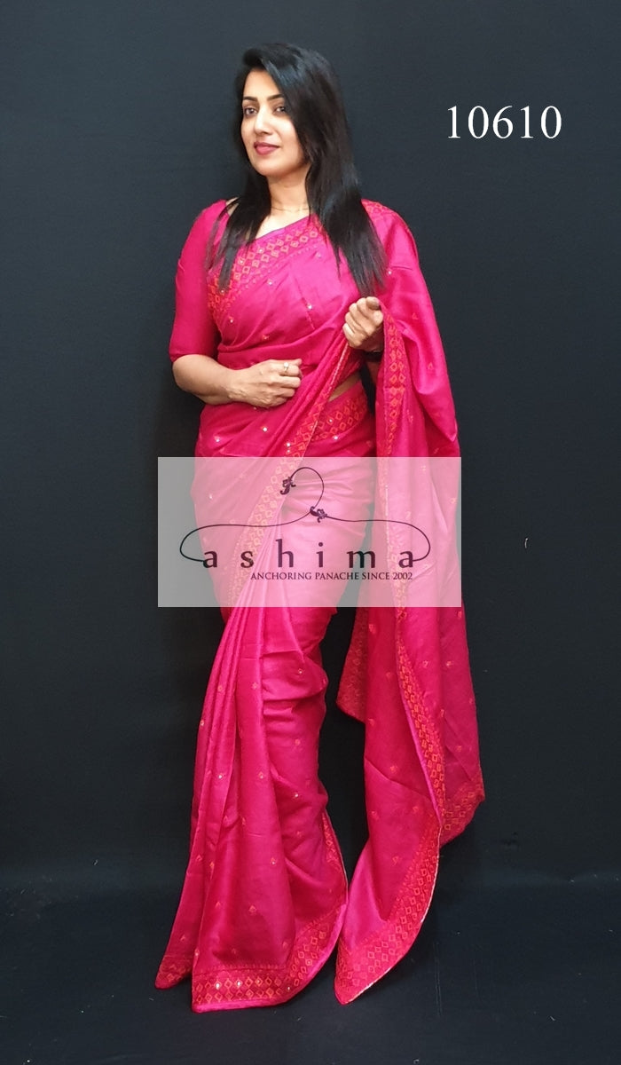 10610 Tussar silk saree