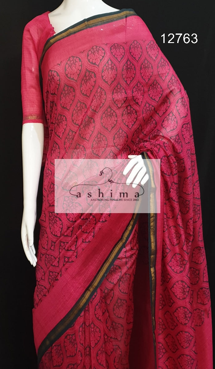 Chanderi saree 12763