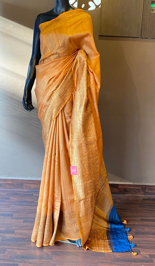 Tussar silk saree 13087