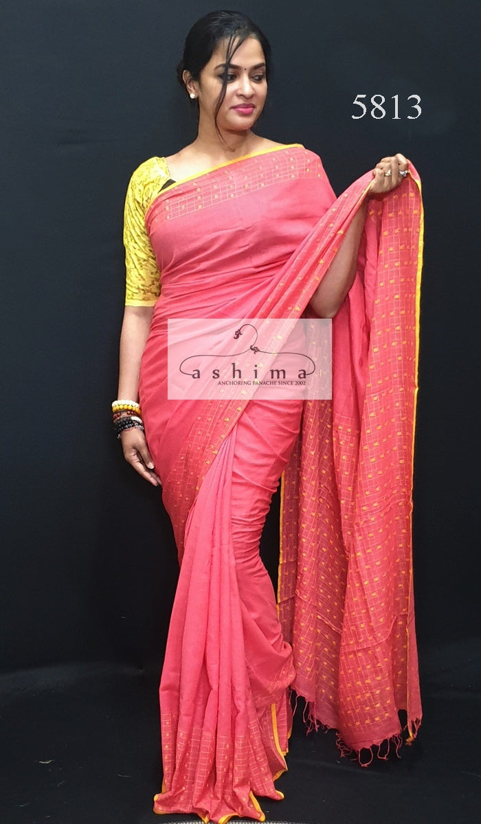 Cotton Khadi saree 5813