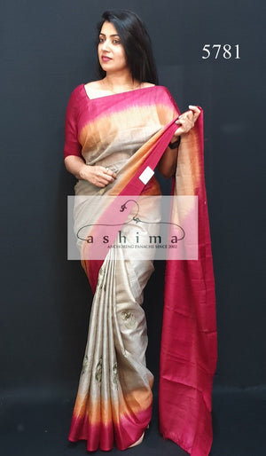 Tussar Silk Saree 5781