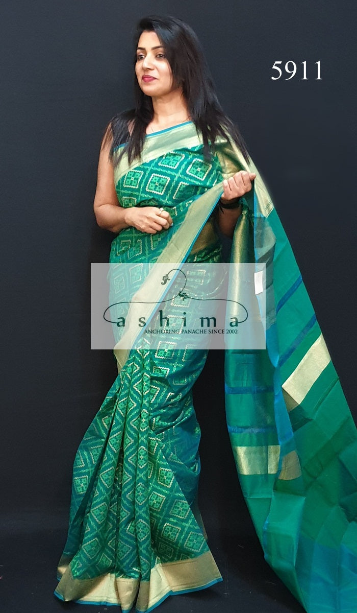 Semi Banarasi Saree 5911