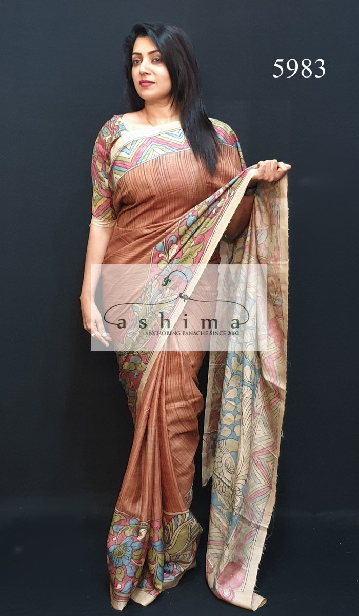 Tussar Silk Saree 5983