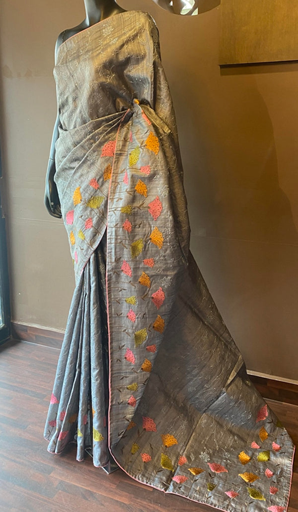 Tussar silk saree 12924