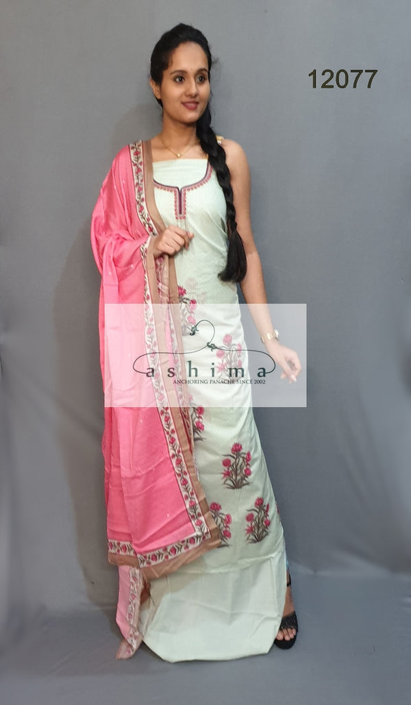 Unstitched salwar suit 12077