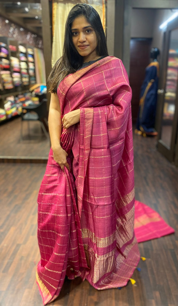 Tussar silk saree 13886