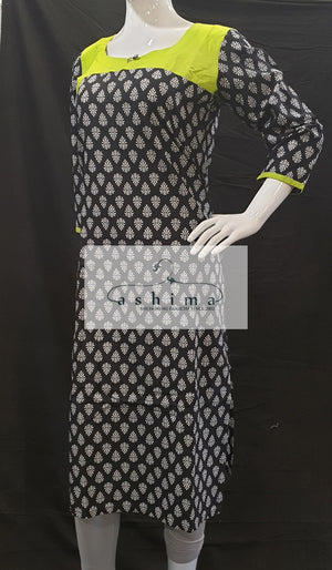 Cotton Kurti - Medium- Kurti 79