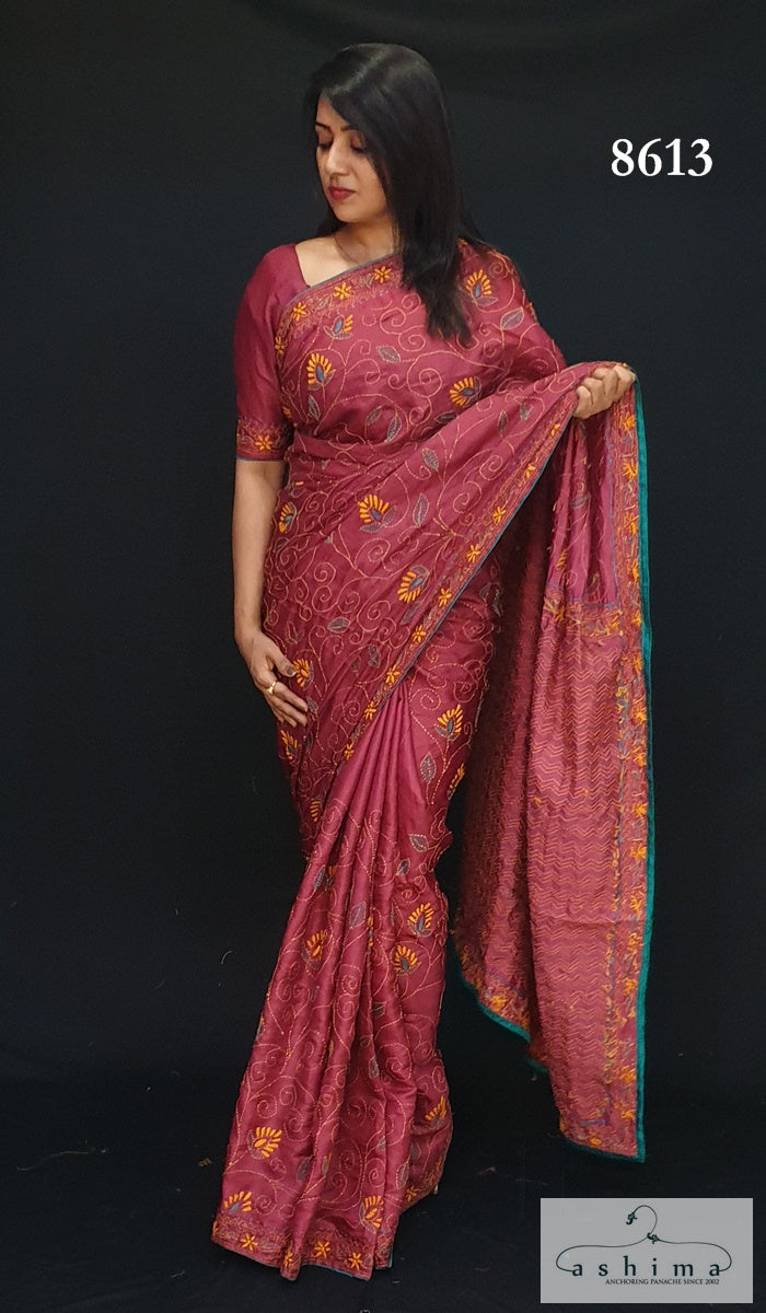 8613 Semi Silk Saree