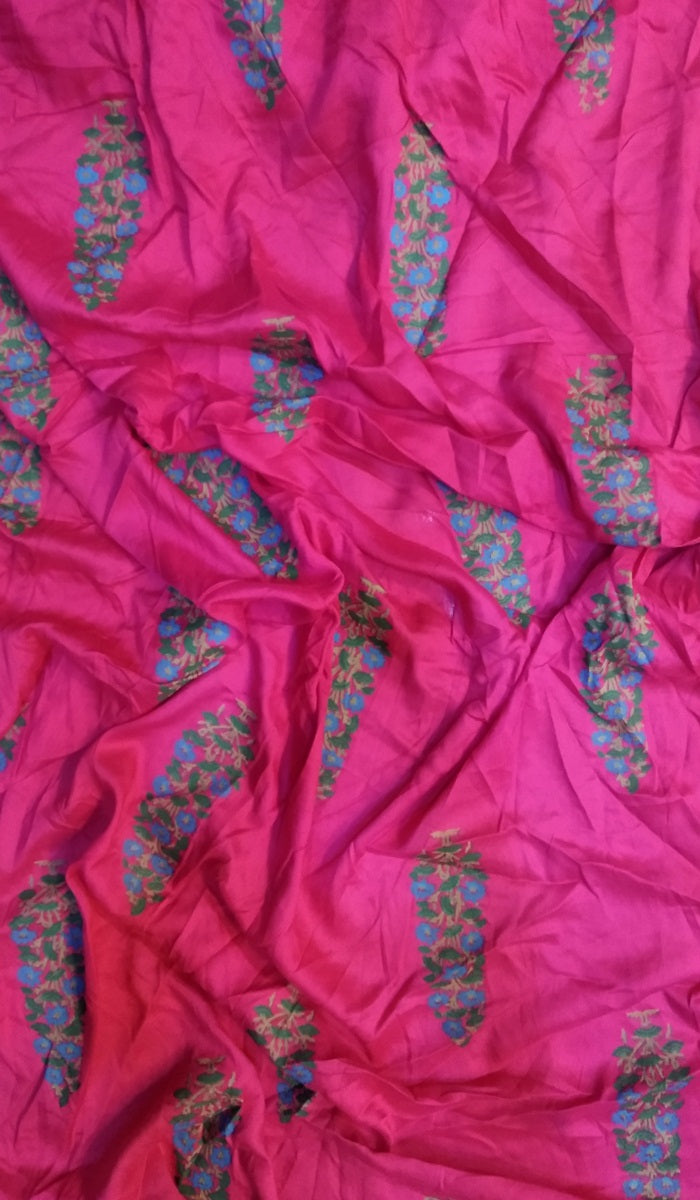 Block Printed Rayon Fabric FBK42