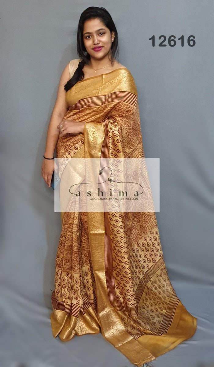 Chanderi saree 12616