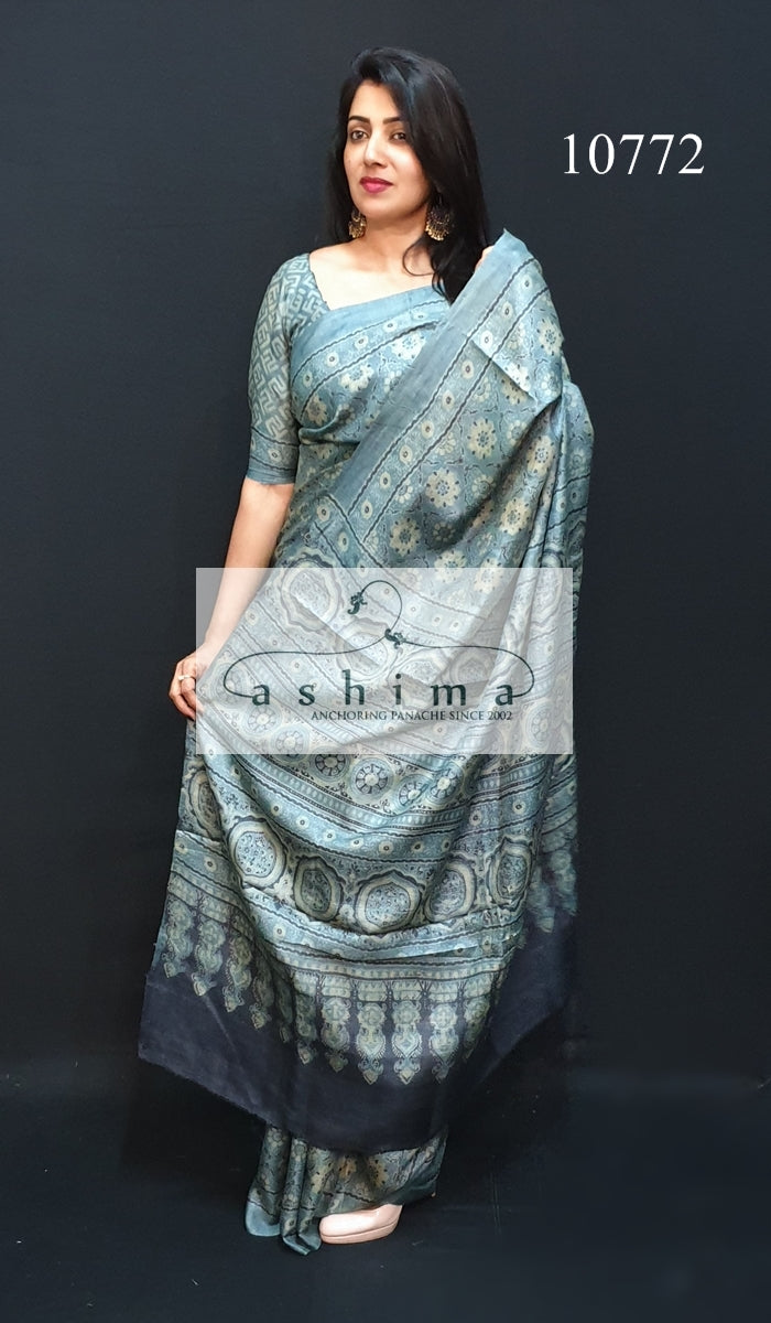 Tussar silk saree 10772