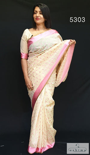 Embroidered Chanderi Saree 5303