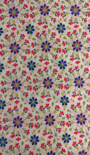 Embroidered Linen Fabric FBK032