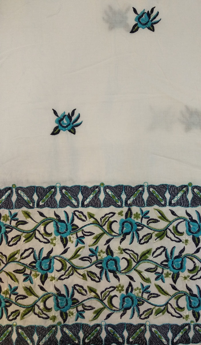 Embroidered Cotton Fabric DKE0014