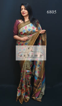 Tussar Silk Saree 6805